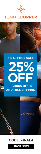 Tommie Copper Final Four Sale - 25% Off + Bonus Offer: Free Shipping With Code FiNAL4 through 4/3. S