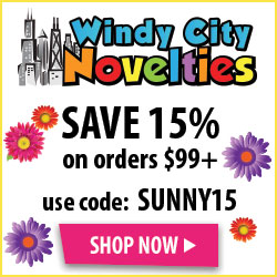 15% Off Regularly Priced Party Invites, Decorations, Banners and Supplies at Windy City Novelties