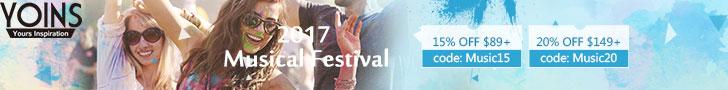 10% OFF $29+ for Musical Festival