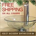 Free shipping at Modern Bathroom