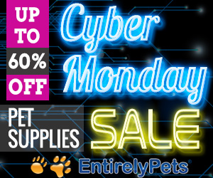 Up to 60% off Pet Supplies at EntirelyPets Cyber Monday Sale
