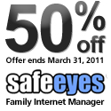 Get 50% off Safe Eyes
