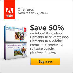 50% off Adobe Elements Products