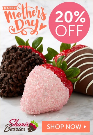 20% off Mother's Day Strawberries & Sweet Treats (min $29) - 320 x 460