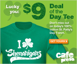$9 Deal of the Day Tee at CafePress