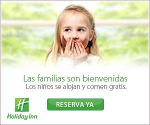 Los niños comen y se alojan gratis en Holiday Inn.¡Reserva ahora!