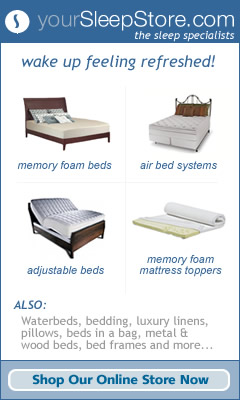 Affordable memory foam mattresses and more.