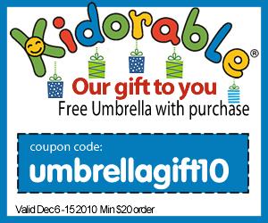 Get a Free Kidorable Umbrella