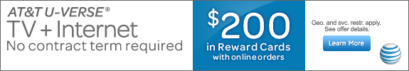 Uverse Double Play + $200 Rewad Card.