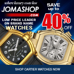 Save Up To 40% On Cartier Watches At Jomashop Now. Hurry Look Now!