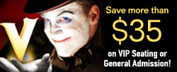 V-The Ultimate Variety Show Save $35 Banner 250x102