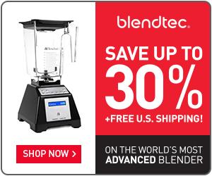 Save big on Blendtec Factory Recertified Blenders + Free Shipping