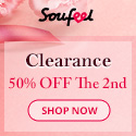 After Mother's Day Clearance at Soufeel! Save 50% OFF your 2nd Item! Soufeel.ca