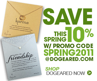 10% Off Dogeared for Spring!