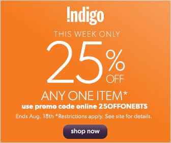 This Week Only: 25% off Any One Item* at Chapters.Indigo.ca!