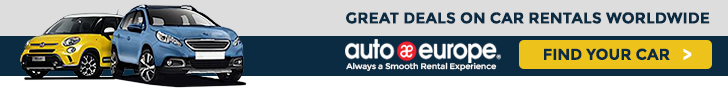 Click here for Auto Europe Car Rentals