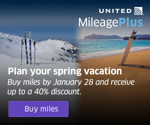 Mystery Bonus! Buy United MileagePlus points and get up to 100% bonus