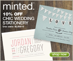 10% OFF MINTED WEDDING STATIONERY