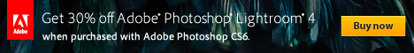 Get Adobe Photoshop Lightroom 4 for only US$99 when purchased with Adobe Photoshop CS5 or qualifying suite