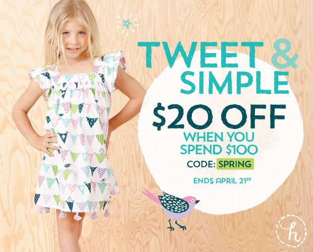 $20 Off a $100 Purchase with Club code: SPRING at Hatley.com