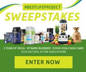 Vega Sweepstakes - Enter Now and get 20% off