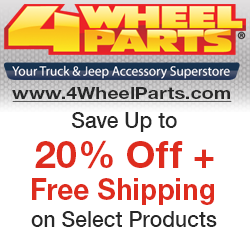Shop at 4Wheelparts.com for 20% off sitewide and FREE SHIPPING