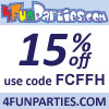 15% Off Party Supplies