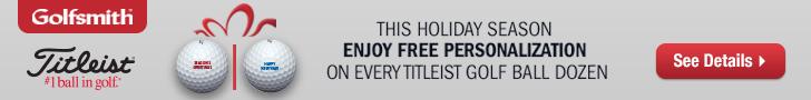 Enjoy Free Personalization on Every Titleist Golf Ball Dozen at Golfsmith.com! Offer ends 12/31.