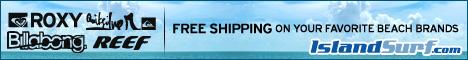 Free Shipping on Billabong, Quiksilver, Roxy, Reef