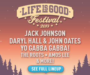 Buy Tickets to the Life is good Festival on September 21-22 to Help Kids in Need.  See the Full Line