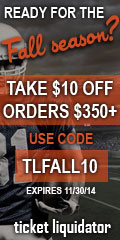 $10 off orders of $350+ at Ticket Liquidator