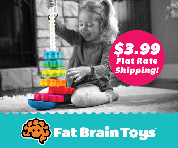 $3.99 Flat Rate Shipping at Fat Brain Toys