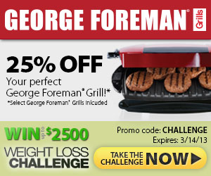 25% off George Foreman Grills