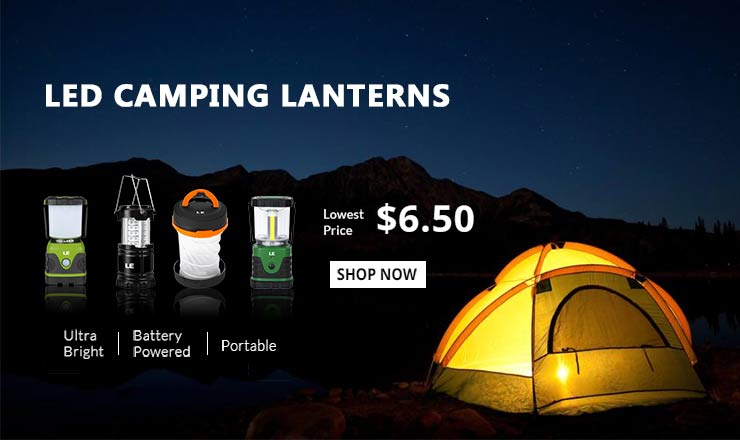 As Low as $6.50 on LED Camping Lanterns