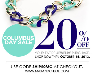 Fashion: Max & Chloe Jewelry 20% off Sale + Fall Must Haves!