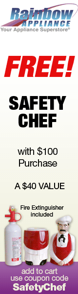 Free Safety Chef w/ $100 purchase -code SAFETYCHEF