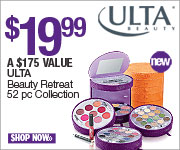 (7/1-7/21) Beauty Retreat 52 pc Collection $19.99 at Ulta. A $175 Value! (180x150)