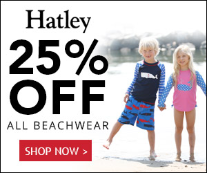 25% OFF ALL Kids Beachwear at Hatley.com