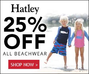 25% OFF ALL Kids Beachwear at Hatley.com