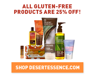 Desert Essence Gluten Free 25% Off