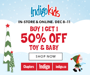 Buy 1, Get 1 50% off select Toys and Baby items. December 8 - 11.