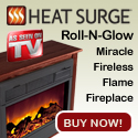 Heat Surge Roll-N-Glow Amish Fireplace