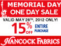 Up to 50% Off Hancock Fabrics Hop Into Savings