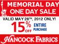 Up to 50% Off Hancock Fabrics Hop Into Savings