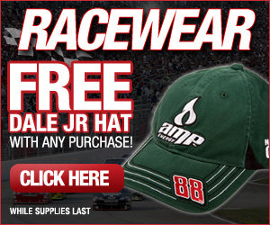 Free Dale Jr. hat with any purchase!