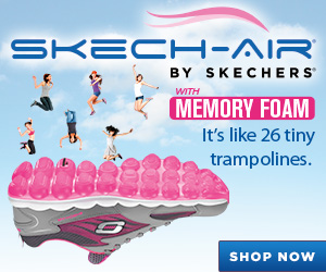 SKECH-AIR with SKECHERS Memory Foam. It's like 26 tiny trampolines. Enjoy walking on air. Shop Now.