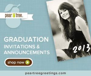 Graduation Invitations from Pear Tree Greetings