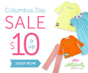 Shop Lolly Wolly Doodle's Columbus Day Sale! Items $10 and up. New markdowns just added! Free shippi