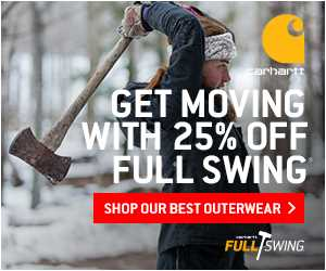 25% off ALL Full Swing products at Carhartt