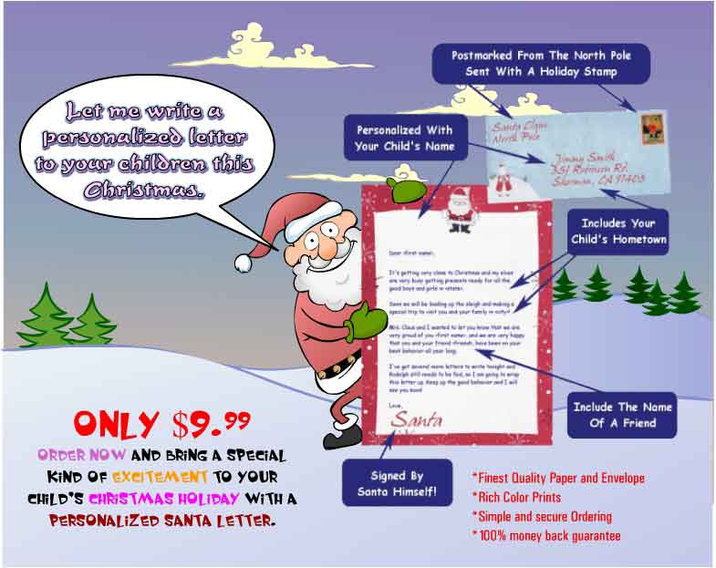Free Santa Letter for your Child Now